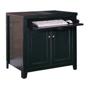 Kathy Ireland Home by Martin Tribeca Loft Wood Printer Stand in Black
