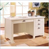 Kathy Ireland Home by Martin Furniture Tribeca Loft Single Pedestal Wood Writing Desk in White