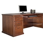 Kathy Ireland Home by Martin Furniture Huntington Oxford Right Facing 68 Executive Desk in Burnish