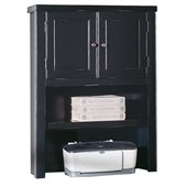Kathy Ireland Home by Martin Furniture Tribeca Loft Black Desk Hutch with Doors