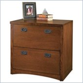 Kathy Ireland Home by Martin Furniture Mission Pasadena 2 Drawer Lateral Wood File Cabinet in Mission-Inspired Finish 