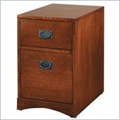 Kathy Ireland Home by Martin Furniture Mission Pasadena 2 Drawer Mobile Vertical Wood File Cabinet in Mission Finish