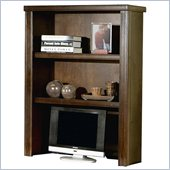 Kathy Ireland Home by Martin Furniture Tribeca Loft Cherry Open Desk Hutch