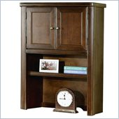 Kathy Ireland Home by Martin Furniture Tribeca Loft Cherry Desk Hutch with Doors