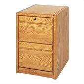 Kathy Ireland Home by Martin Furniture Contemporary 2 Drawer Vertical Wood File Storage Cabinet in Oak