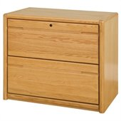 Kathy Ireland Home by Martin Furniture Contemporary 2 Drawer Lateral Wood File Cabinet in Oak