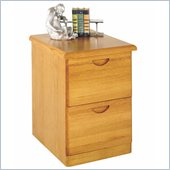 Kathy Ireland Home by Martin Furniture Waterfall 2 Drawer Vertical Wood File Cabinet in Oak