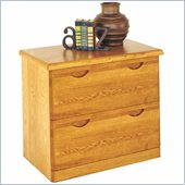 Kathy Ireland Home by Martin Furniture Waterfall 2 Drawer Lateral Wood File Storage Cabinet in Oak