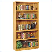 Kathy Ireland Home by Martin Furniture Wood 5 Shelf Waterfall Open Bookcase in Oak