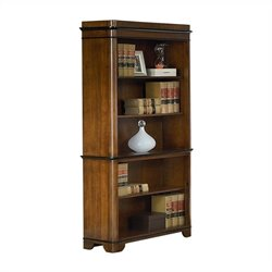 Kathy Ireland Home by Martin Kensington 5 Shelf Open Bookcase in Warm Fruitwood