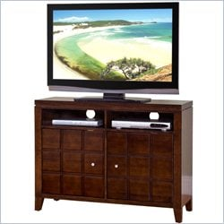 Martin Furniture Davenport 40 TV Stand with Panel Design Doors in Toasted Cherry
