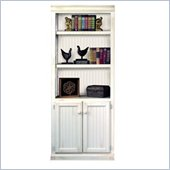 Kathy Ireland Home by Martin Furniture Southampton 5 Shelf Wood Bookcase in Oyster