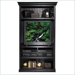Kathy Ireland Home by Martin Furniture Southampton Onyx Open TV Armoire