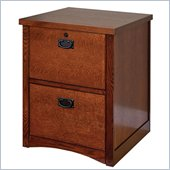 Kathy Ireland Home by Martin Mission Pasadena 2 Drawer Vertical Wood File Cabinet in Mission-Inspired Finish