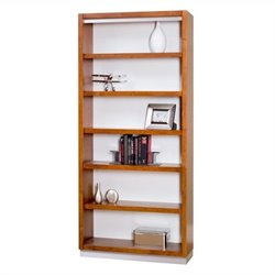 Kathy Ireland Home by Martin Monterey Open Bookcase in Toasted Almond