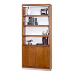 Kathy Ireland Home by Martin Monterey Door Bookcase in Toasted Almond