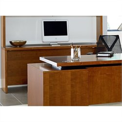 Kathy Ireland Home by Martin Monterey Open Credenza in Toasted Almond