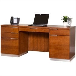 Kathy Ireland Home by Martin Monterey Credenza with Drawers in Toasted Almond