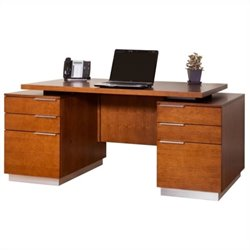 Martin Furniture Monterey Double Pedestal Desk