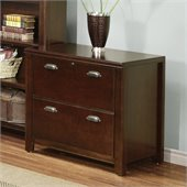 Kathy Ireland Home by Martin Furniture Tribeca Loft 2 Drawer Lateral Wood File Storage Cabinet in Cherry