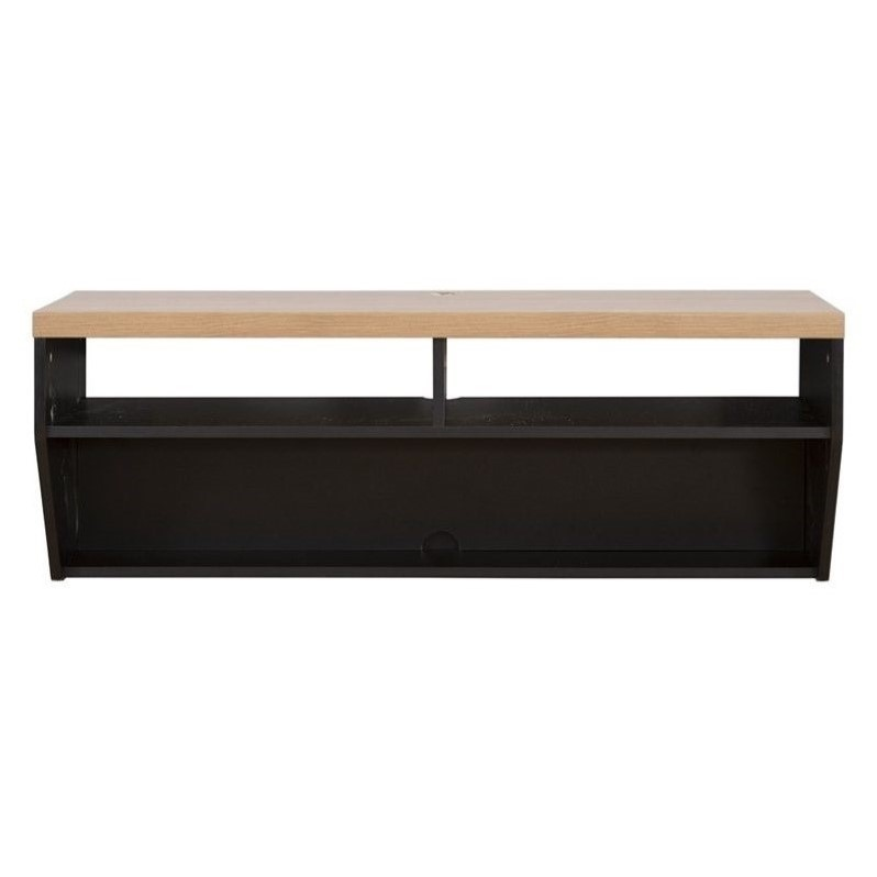 Martin Furniture 48 Floating TV Stand in River Cherry & Black
