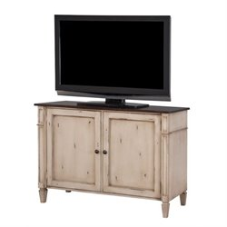 Martin Furniture Baldwin Storage Console in Antique Powder White