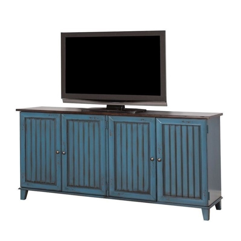 Martin Furniture Ellington 72 TV Console in Blue