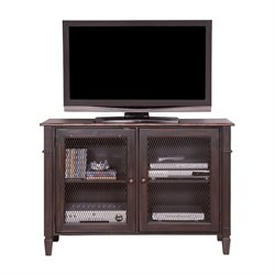 Martin Furniture Navarro Storage Console in Clove and Auburn