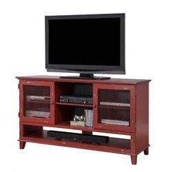 Martin Furniture Sorrento Deluxe TV Console in Red