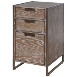 Martin Furniture Belmont File Cabinet in Bushed Ash