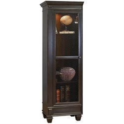 Martin Furniture Hartford Left Facing Bookcase in Two Tone Black