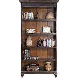 Martin Furniture Hartford Bookcase in Two Tone Distressed Black