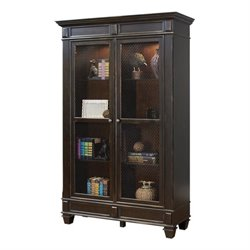 Martin Furniture Hartford Wire Mesh Bookcase in Distressed Black
