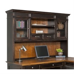 Martin Furniture Hartford Hutch in Two Tone Distressed Black