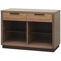 Martin Furniture Stratus Two Drawer Console Table in Chestnut