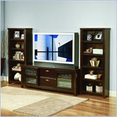 Kathy Ireland Home by Martin Furniture Tribeca Loft Flat Panel/Plasma/LCD TV Bookcase Entertainment Center in Cherry Finish