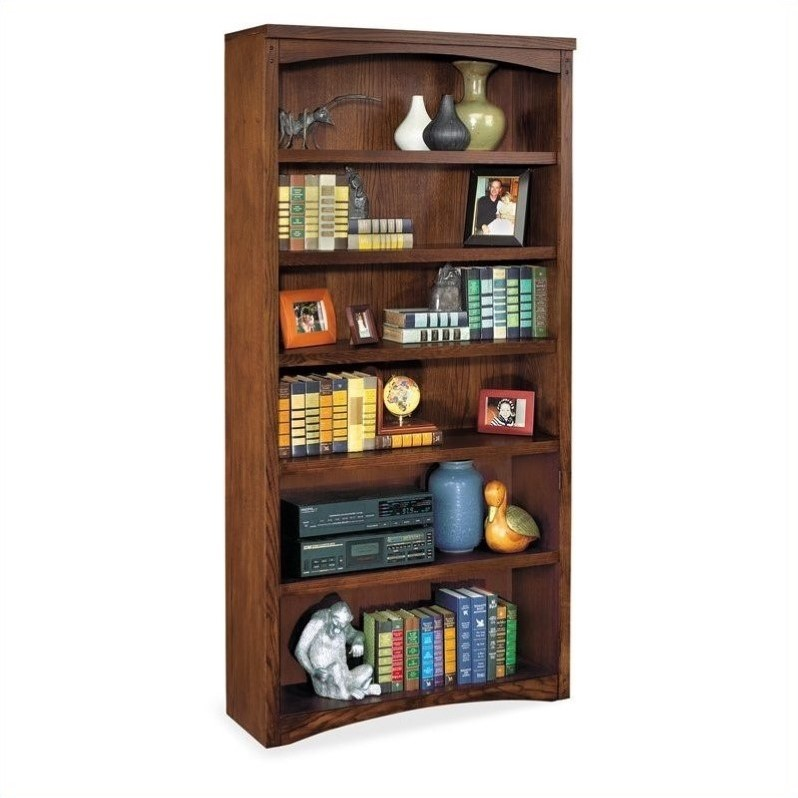 Martin Furniture Mission Pasadena 6 Shelf Open Wood Bookcase