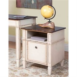 Martin Furniture Eclectic Baldwin Filing Cabinet in Antique White