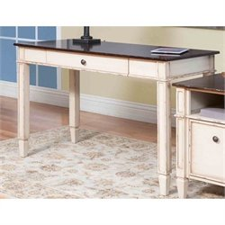 Martin Furniture Eclectic Baldwin Computer Desk in Antique White