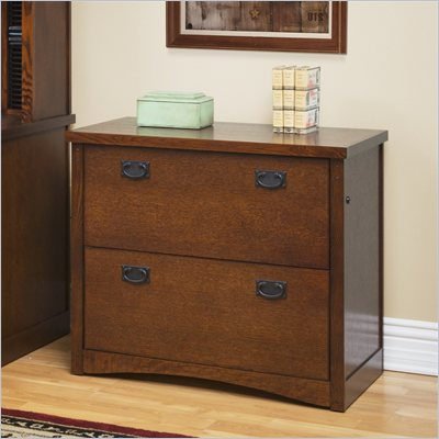 Kathy Ireland Home by Martin Furniture California Bungalow 2 Drawer Lateral Wood File Cabinet in Mission Oak