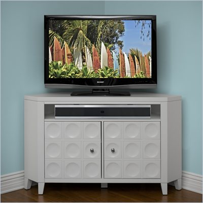 Kathy Ireland by Martin Crescent TV Stand Corner Unit in White