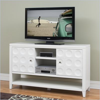 Kathy Ireland by Martin Crescent  36&quot; Tall TV Stand in White