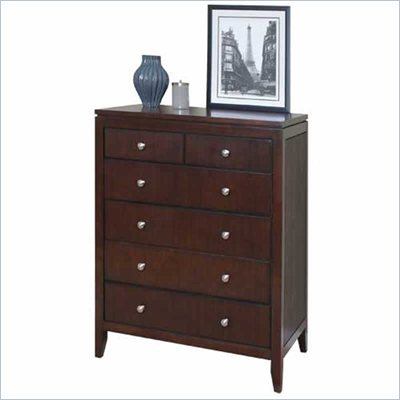 Martin Furniture Grove 6 Drawer Chest in Terra