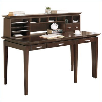 Martin Furniture Studio West Desk with Pull-out Return and Hutch