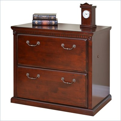 Kathy Ireland Home by Martin Furniture Huntington Club 2 Drawer Lateral Wood File Cabinet in Distressed Cherry