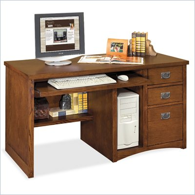 Kathy Ireland Home by Martin Furniture Mission Pasadena Deluxe Wood Computer Desk