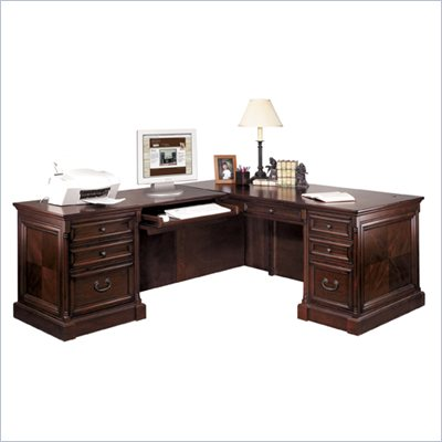 Kathy Ireland by Martin Mount View Executive L-Shaped Desk and Return
