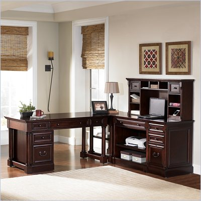 Kathy Ireland by Martin Mount View 4 Pc L-Shaped Desk Configuration