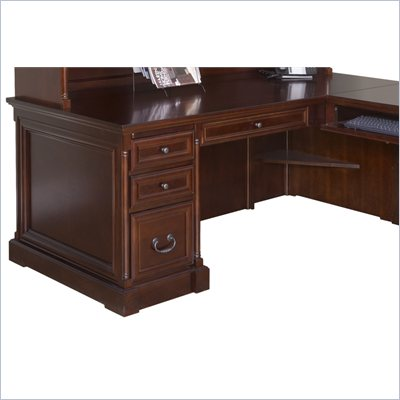 Kathy Ireland Home by Martin Furniture Mount View 74&quot; Executive Desk for Right Hand Facing Keyboard Return
