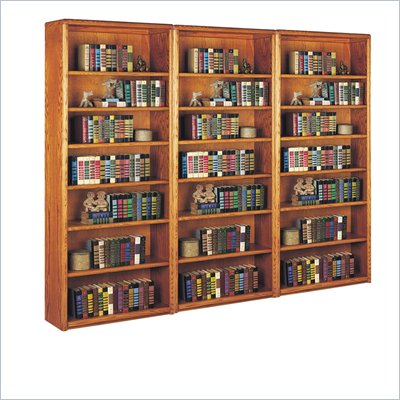 Kathy Ireland Home by Martin Furniture 3 Piece Bookcase Set in Oak  
